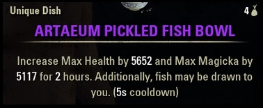 Artaeum Pickeled Fish Bowl food