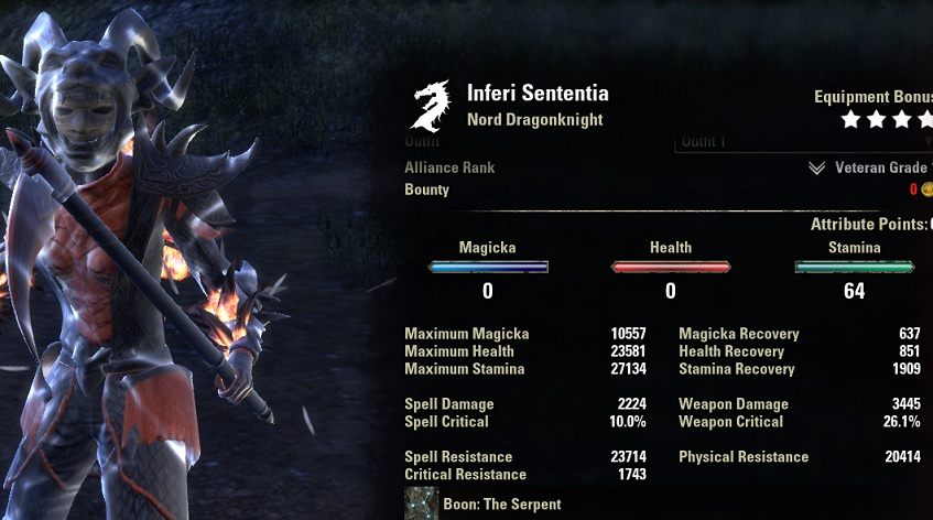 Stamina Dragonknight Build PvP for Elder Scrolls Online