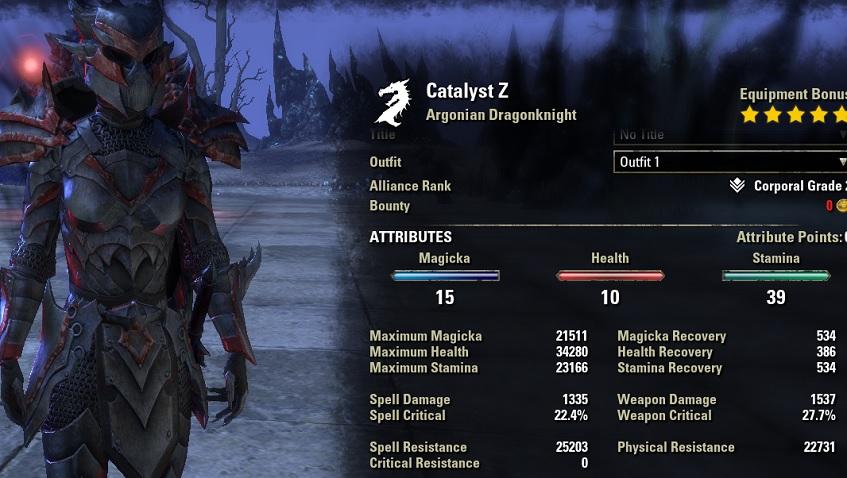 Dragonknight Tank Build PvE for Elder Scrolls Online - AlcastHQ