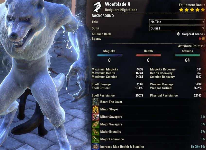 Werewolf Build PvE