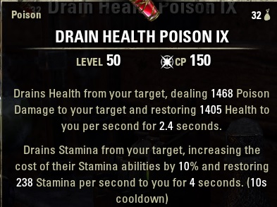 Drain Health Poison