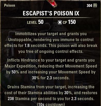 Escapist Poison