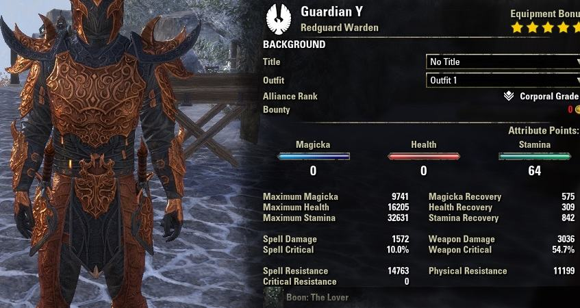 Stamina Warden Build PvE Guardian