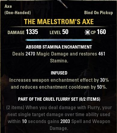 Ability Altering Weapons ESO