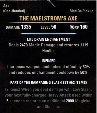 Ability Altering Weapons ESO in Elder Scrolls Online - AlcastHQ