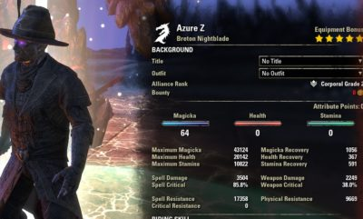 Magblade Azure buffed stats with mara