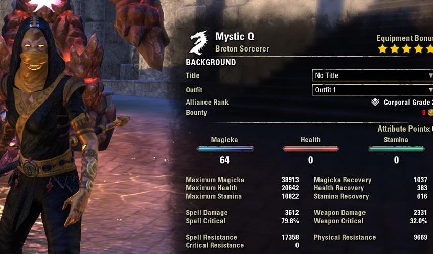 Magicka Sorcerer Build PvE DPS for Elder Scrolls Online