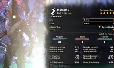 Magsorc Summoner buffed stats