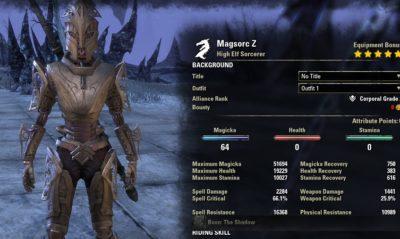 Magsorc Summoner unbuffed stats