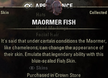 Maormer Fish Skin