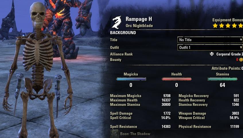 Stamina Nightblade Build PvE DPS for Elder Scrolls Online - AlcastHQ