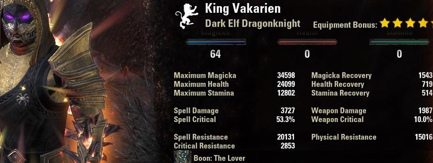 Magicka Dragonknight Burst Build PvP
