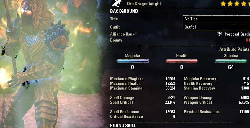 Stamina Dragonknight 2H Build PvE DPS for Elder Scrolls