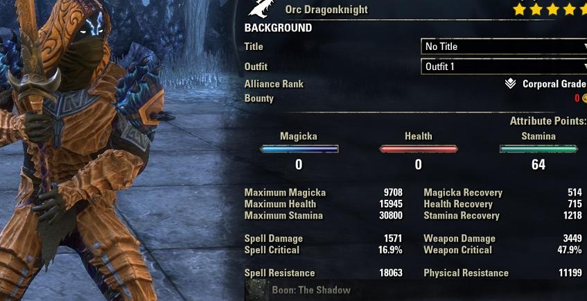 Stamina Dragonknight 2H Build PvE DPS for Elder Scrolls