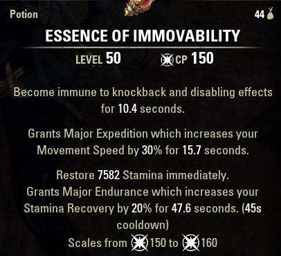 Immovability Speed Potion