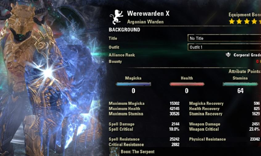 Warden Werewolf Build PvP
