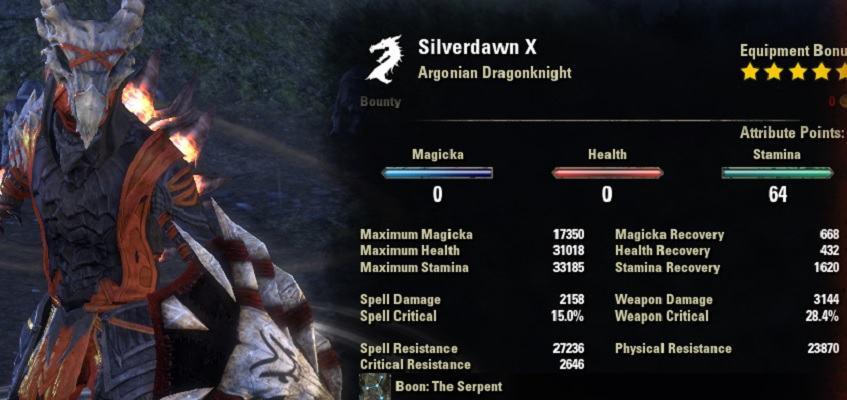 Stamina DK Build PVP Werewolf Hunter
