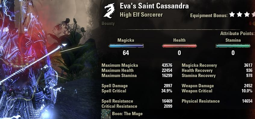 Magicka Sorcerer Build PvP