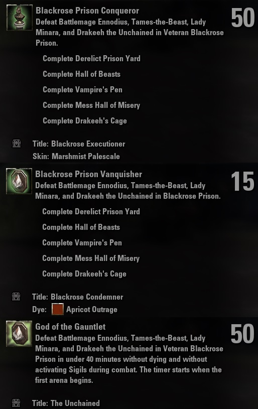 Blackrose Prison Arena Guide for Elder Scrolls Online - AlcastHQ