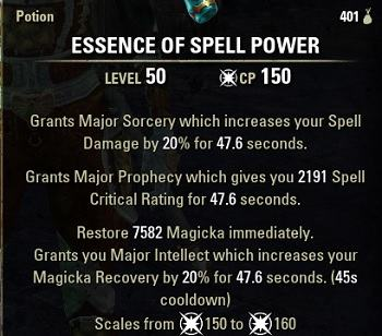 Spell Power Potions