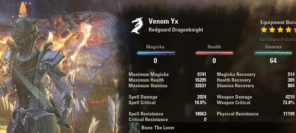StamDK Venom Build PvE