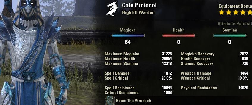 Magicka Warden Build PvP for Elder Scrolls Online - AlcastHQ