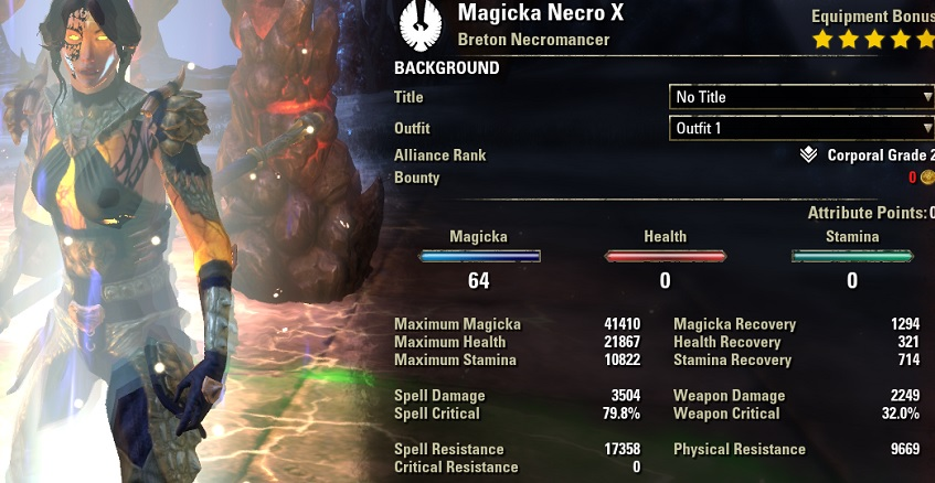 Magicka Necromancer Build PvE DPS for Elder Scrolls Online - AlcastHQ