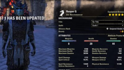 Stamina Necromancer Build PvE DPS for Elder Scrolls Online - AlcastHQ