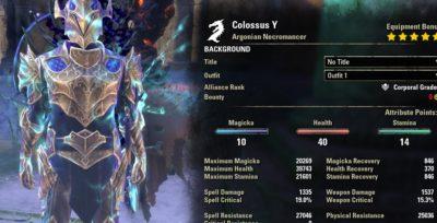 Necromancer Tank Build PvE for Elder Scrolls Online - AlcastHQ