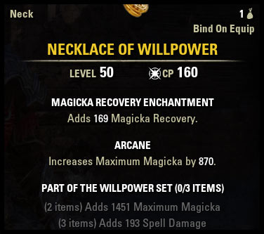 Weapon & Armor Beginner Guide Jewelry Set