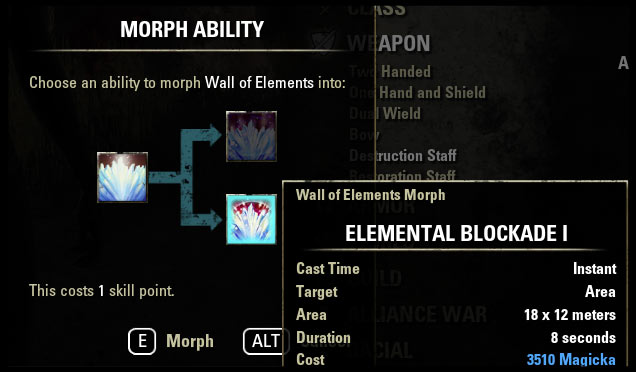 Morphing Guide Purchase Morph Skill