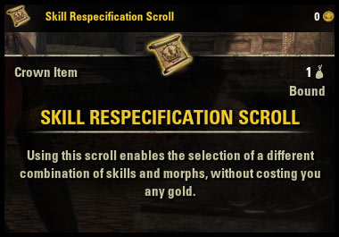 Morphing Guide Skill Respec Scroll Nara