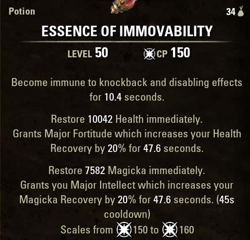 Essence of Immovability Health and Mag