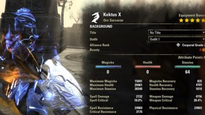 Creeve Stamina Sorcerer Build PvP buffed