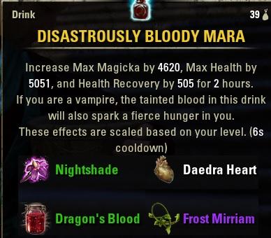 Disastrously Bloody Mara food