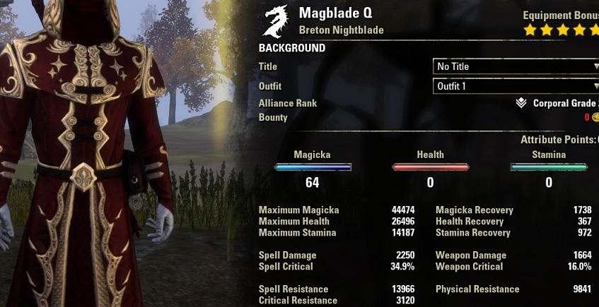 Magicka Nightblade Build PvP for Elder Scrolls Online - AlcastHQ
