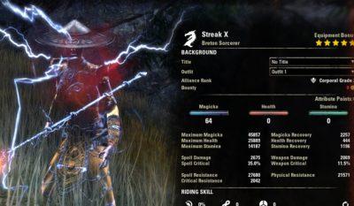 Streak Magicka Sorcerer Build PvP buffed1