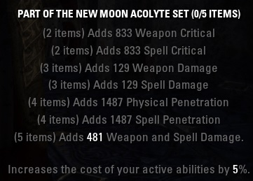 New Moon Acolyte Set ESO