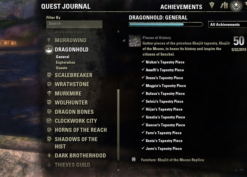 Pieces of History Achievement Guide 18