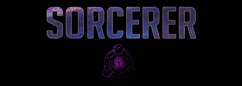 Sorcerer Banner Picture with the Sorcerer Symbol and Name from the Elder Scrolls Online ESO