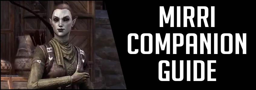 Mirri Companion Guide Build